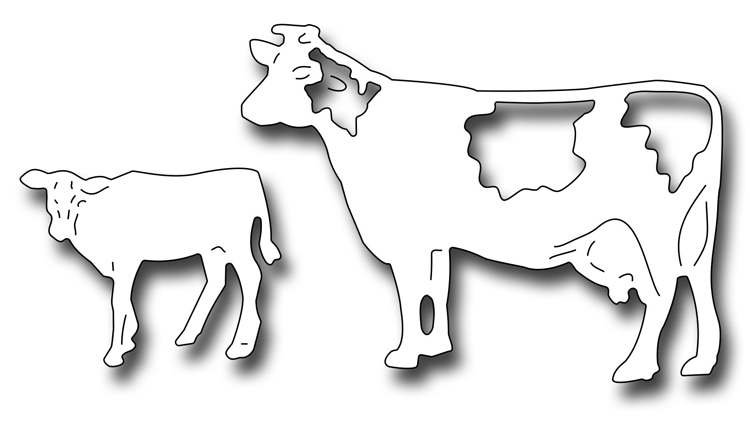 Frantic Stamper Precision Die - Cow and Calf