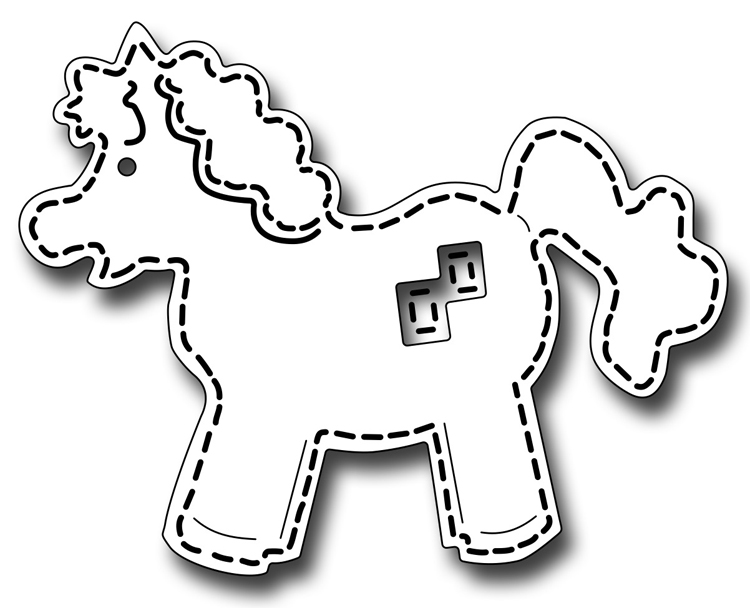 Frantic Stamper Precision Die - Stitched Horse