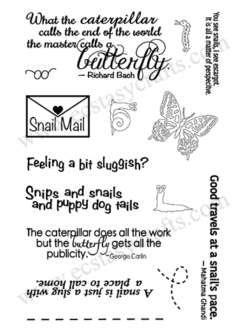 Frantic Stamper Clear Stamp Set - Snips and Snails