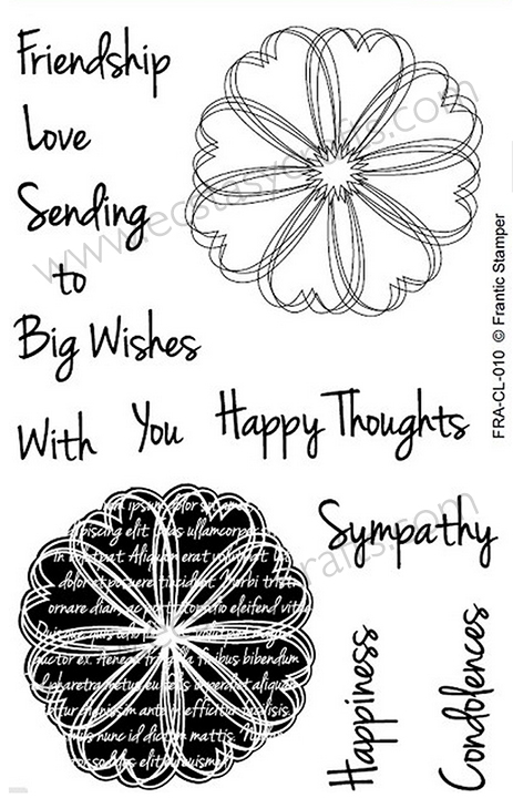 Frantic Stamper Clear Stamp Set - Scribble Flowers #1