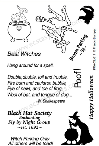 Frantic Stamper Clear Stamp Set - Best Witches