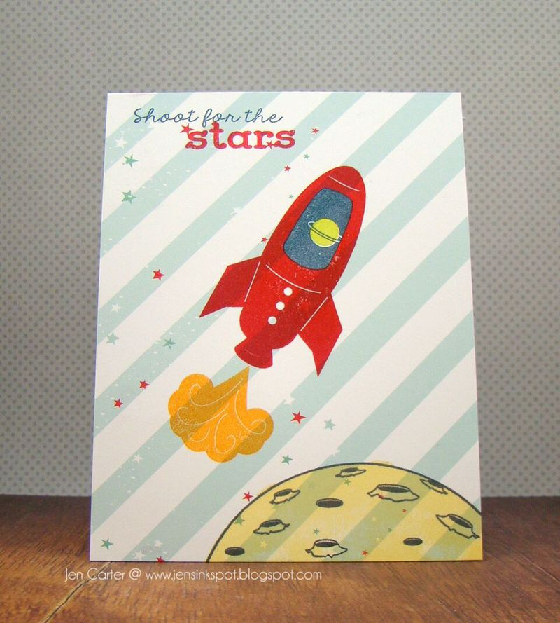 "Frantic Stamper Clear Stamp Set - The Final Frontier (4""x8"")"