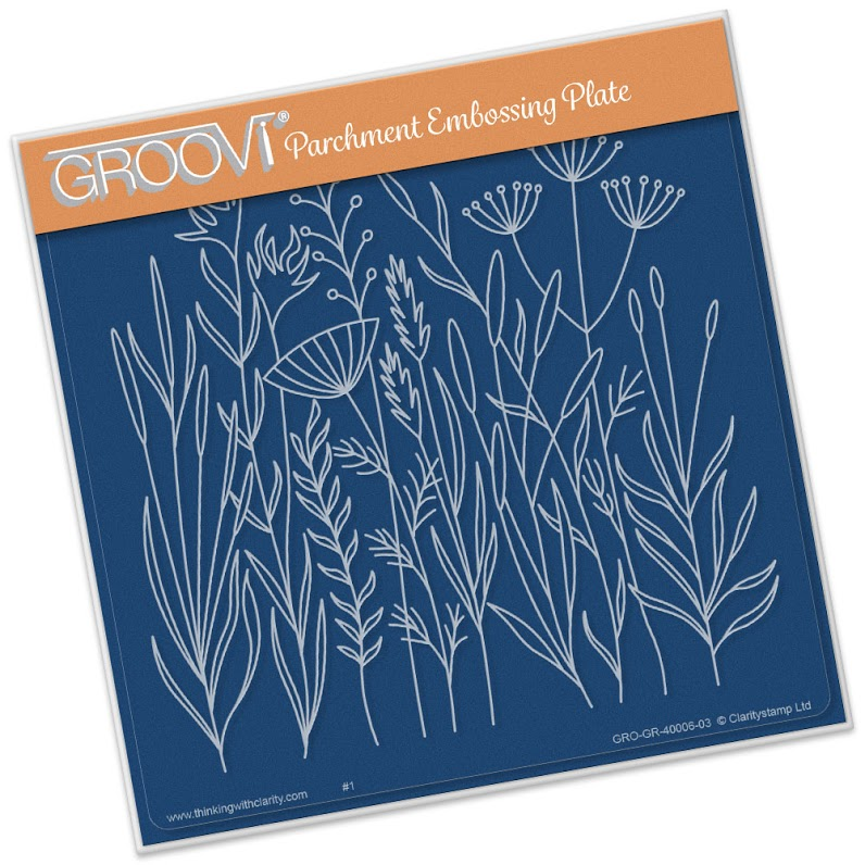 Groovi Meadow Grasses A5 Sq.