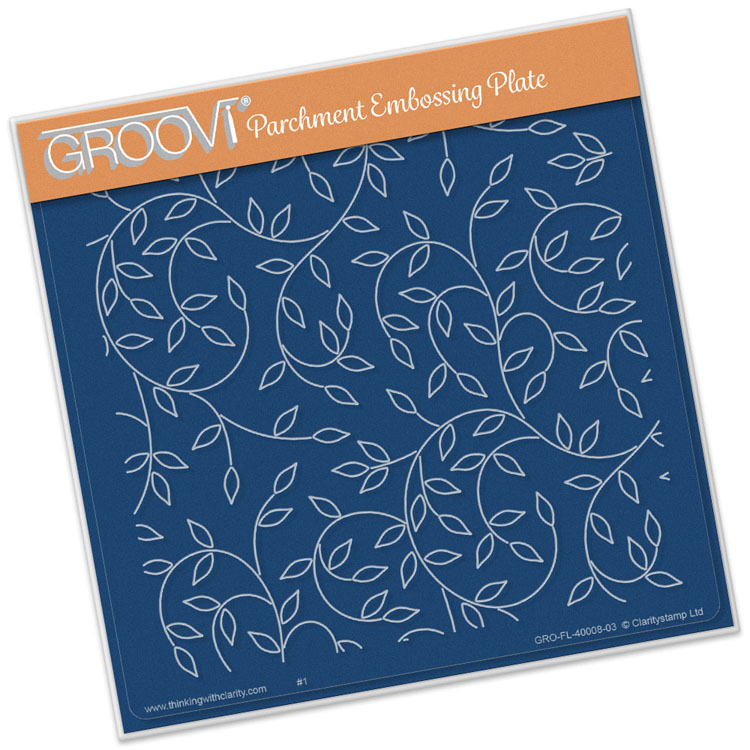 Groovi Sprig Background A5 Square Plate