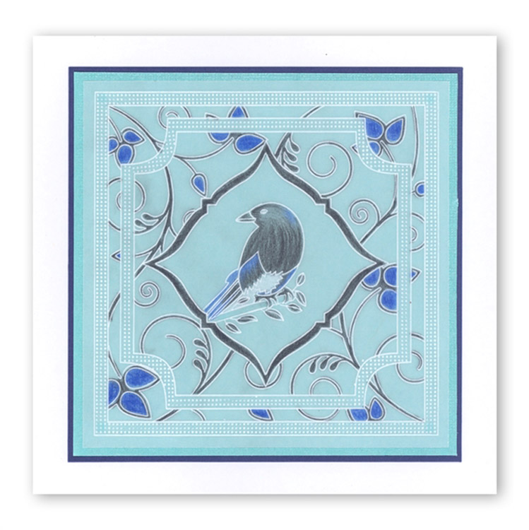 Magpie 3 A6 Square Baby Plate