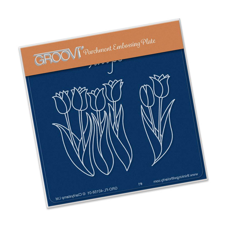 Groovi Tulips A6 Square Baby Plate