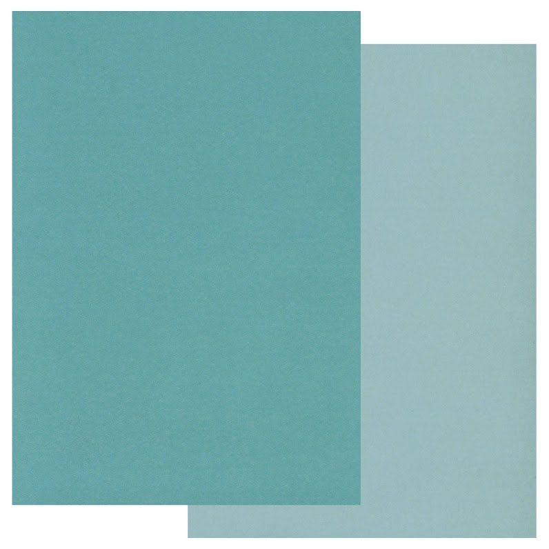 Groovi Coloured Parchment 20 x A5 Two Tone - Teal, Light Teal
