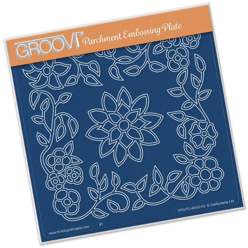Groovi Flower Tangle Frame A5 Sq