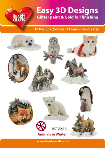 Easy3D Precut Toppers - Animals in Winter
