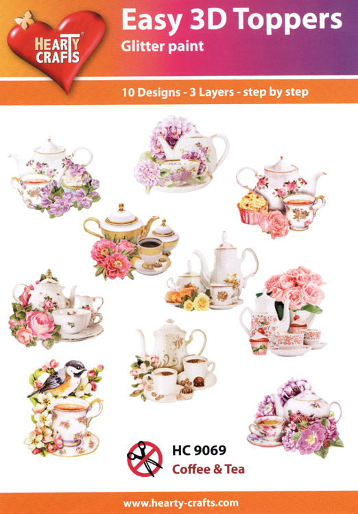 Hearty Crafts Easy 3D Toppers: Coffee & Tea