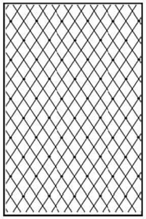 Embossing folder A4 size - Lattice