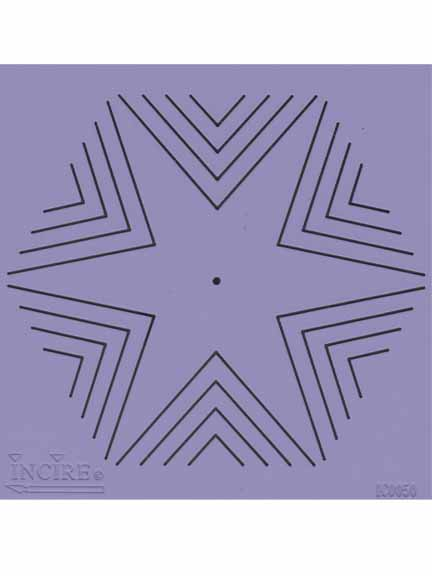 Ecstasy Crafts Incire Template - Star