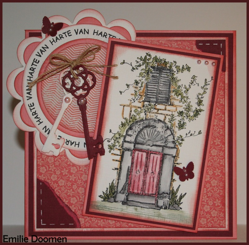"Clear Stamps ""Door with bow & window"""