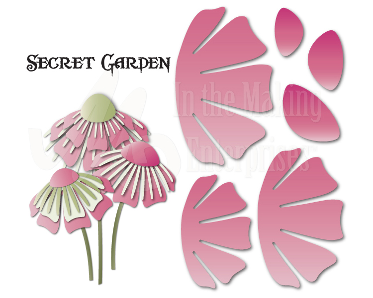 Dee's Distinctively Dies - Secret garden Flower 3