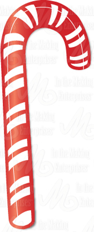 Dee's Distinctively Dies Candy Cane