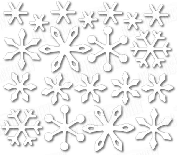 Dee's Distinctively Dies Mini Snowflakes
