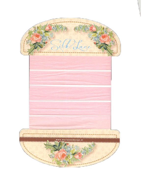 Silk Lace Ribbon - Sweet Pink