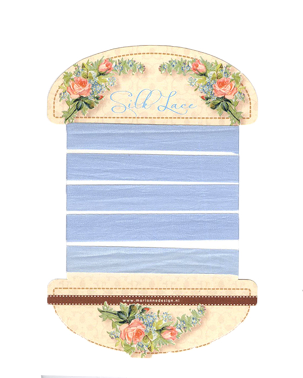 Silk Lace Ribbon - Pale Blue