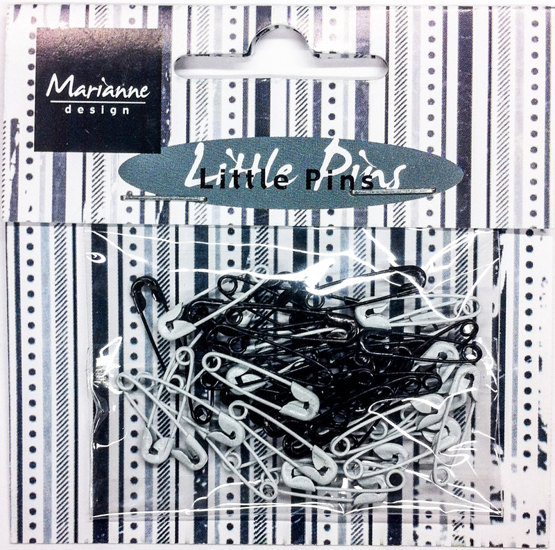 Mini Safety Pins - Black & White