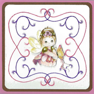 KC Embroidery Pattern - Frame in Swirls
