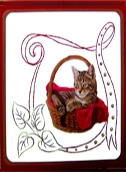 KC Embroidery Pattern - Ribbon Frame