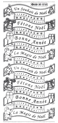 Sticker - French Christmas Greetings