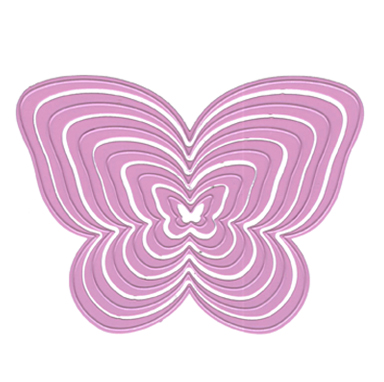 Multi Frame Cutting Die - Butterfly