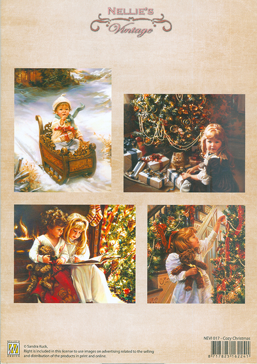 Vintage Prints Coloured - Cozy Christmas