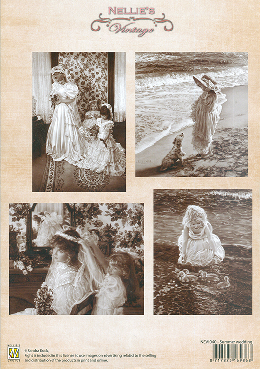Nellie's Choice Vintage Prints Sepia - Summer Wedding