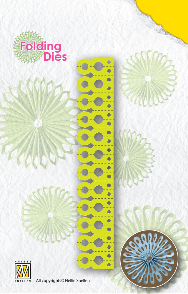 Nellie's Choice Nellie's Rosette Folding Die - Round Point