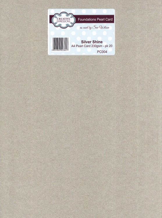 Creative Expressions Foundation A4 Pearl Cardstock 230Gsm Pk 20 - Silver Shine