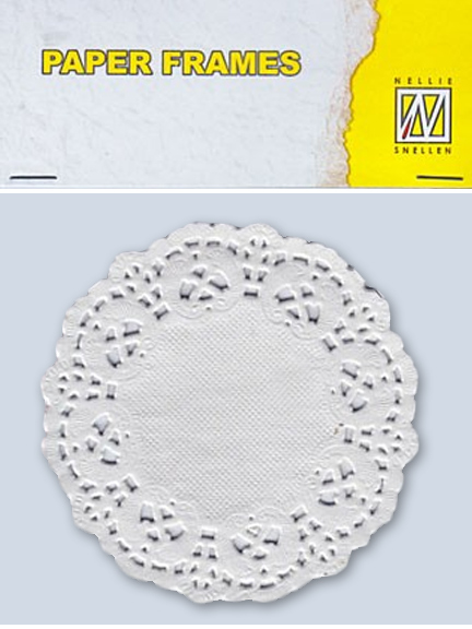 "Paper Lace Doily Frames - Round 9 cm/ 3.6"" in diameter"