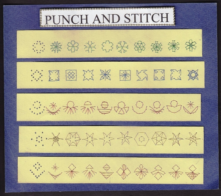 Punch & Stitch - triangle