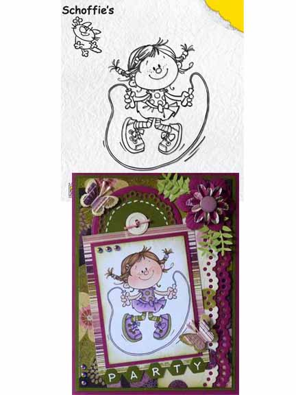 Nellie's Choice Clear Stamps - Schoffie's Skipping