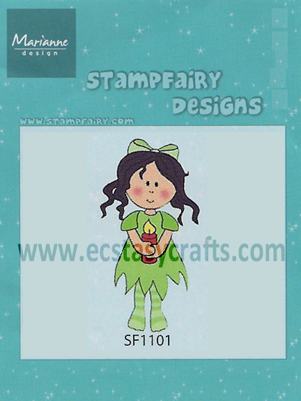 Ecstasy Crafts Stampfairy Cling Stamp - Betty Christmas
