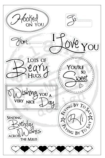 Stampfairy Cling Stamp - Sentiments