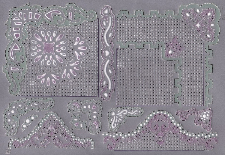 Ecstasy Crafts Exclusive Templates Large -Corners and Edges