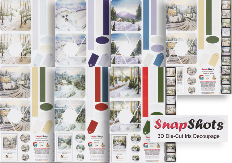 Snap Shots Decoupage - 7 sheet bundle pre-cuts