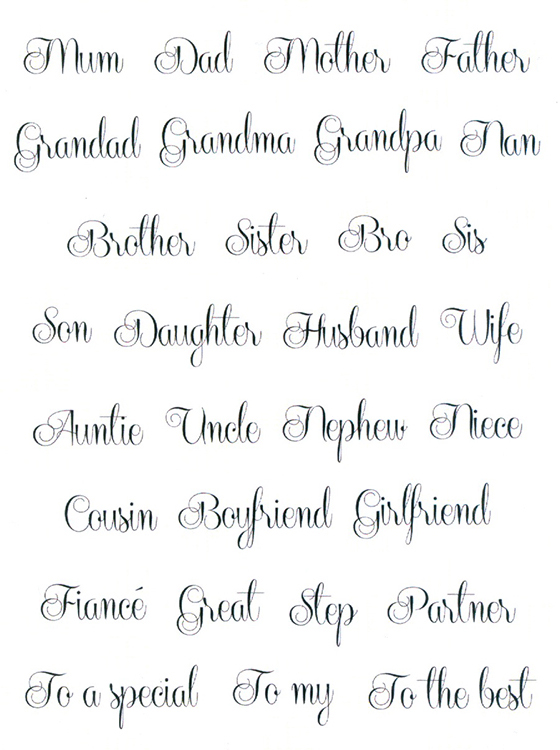 Sentimentally Yours Clear Stamp - Elegant Family Collection