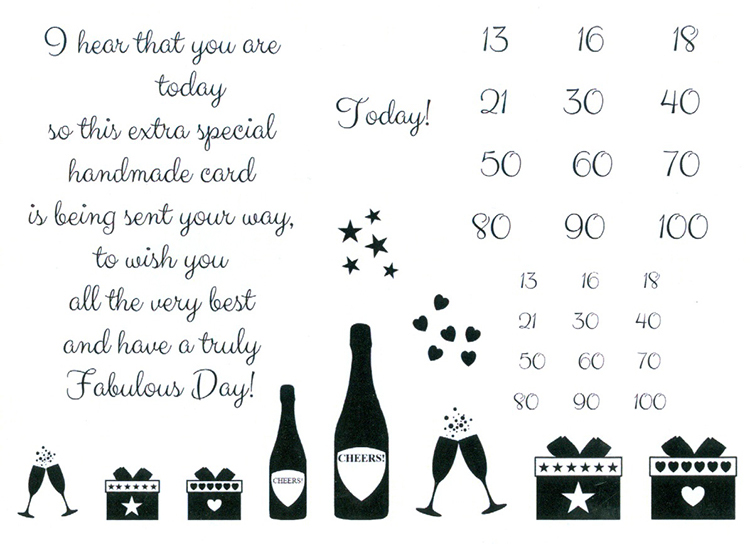 Creative Expressions Sentimentally Yours Clear Stamp - Elegant Milestone Birthday Verse & Extras