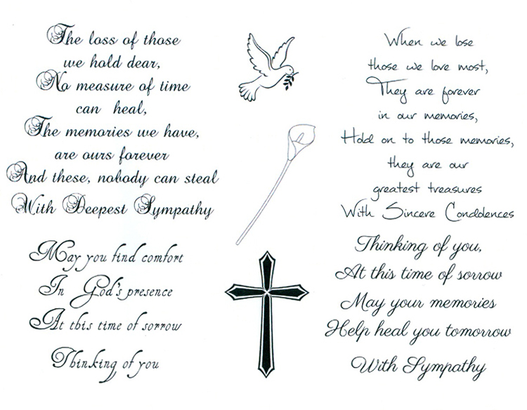 Sentimentally Yours Clear Stamp - Words of Comfort
