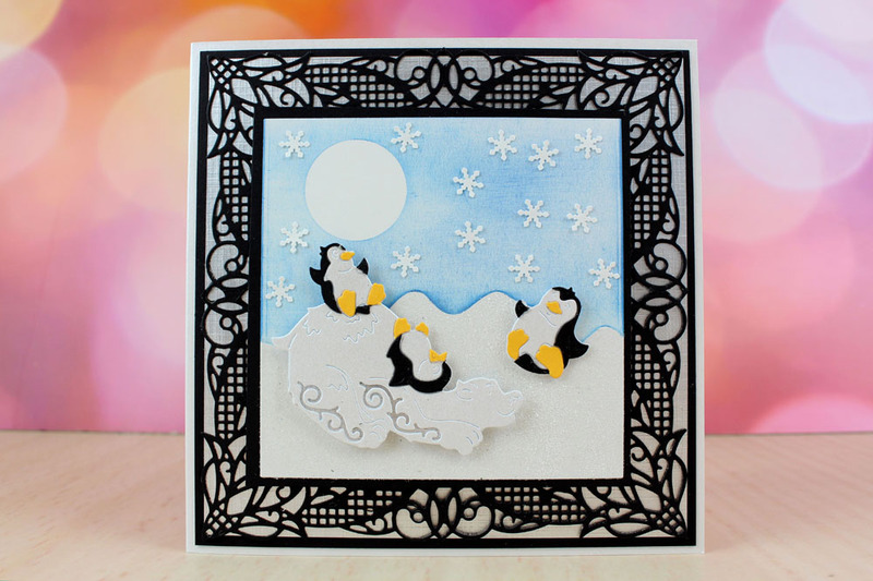 Tattered Lace Die - Playful Penguins