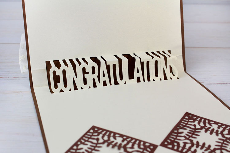 Tattered Lace Die - Mini Pop Up Die -Congratulations