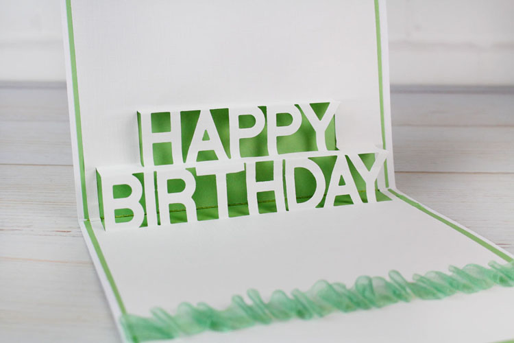 Tattered Lace Die - Mini Pop Up Die - Happy Birthday
