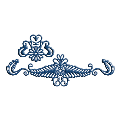 Tattered Lace Dies - Venetian Border Accent (2 pc)