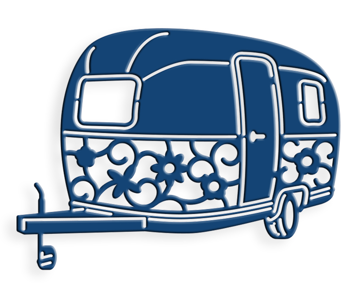 Tattered Lace Die - Small Travel Trailer