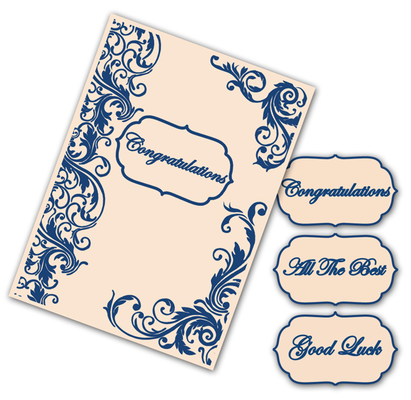 Tattered Lace Interchangeable Embossing Folder - Flourish Border
