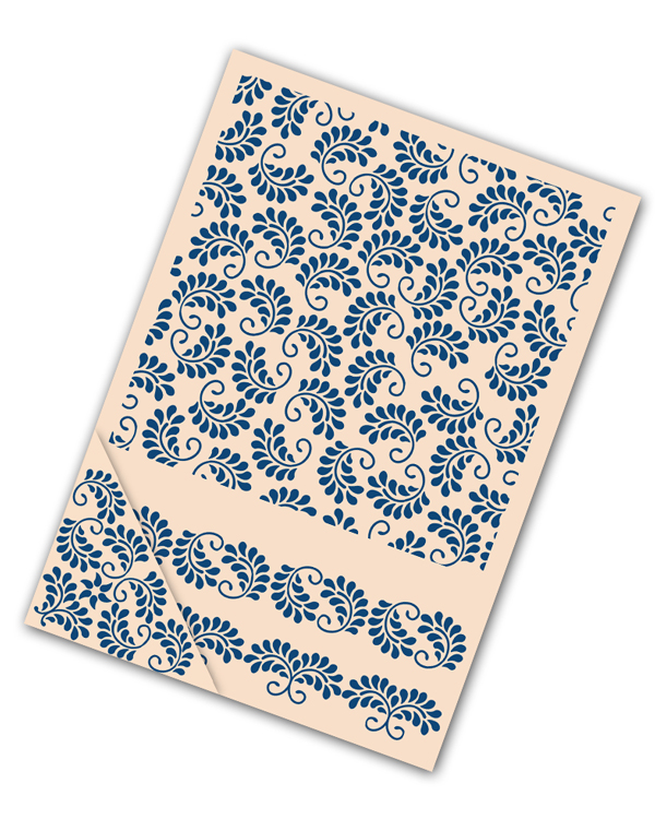 Tattered Lace Embossing Folder Set - Floral Swirls