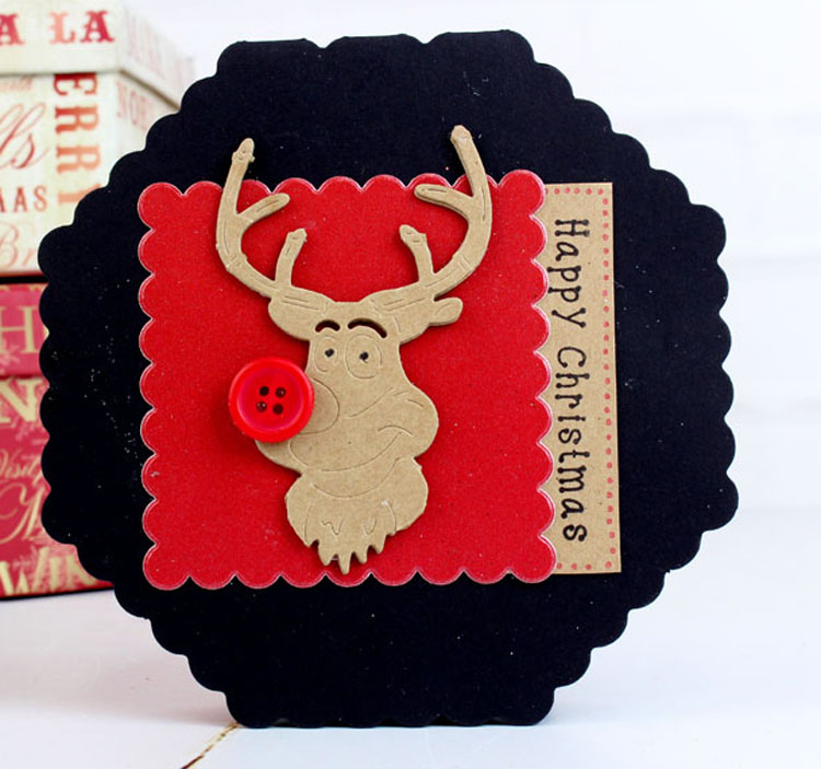 Tattered Lace Essentials Die - Christmas Cuties Reindeer