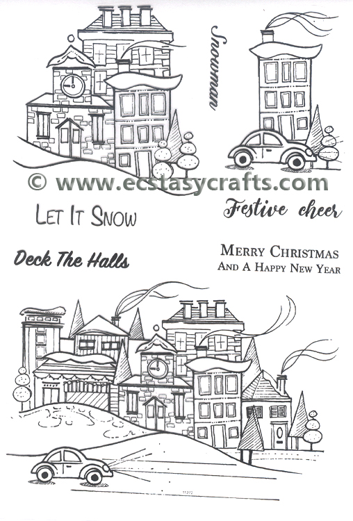 Essentials by Tattered Lace - The Magic of Christmas Winter Town Die & Stamp Set